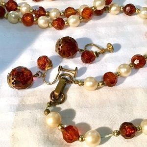 ❇️Vintage Pearl Necklace & Earring Set